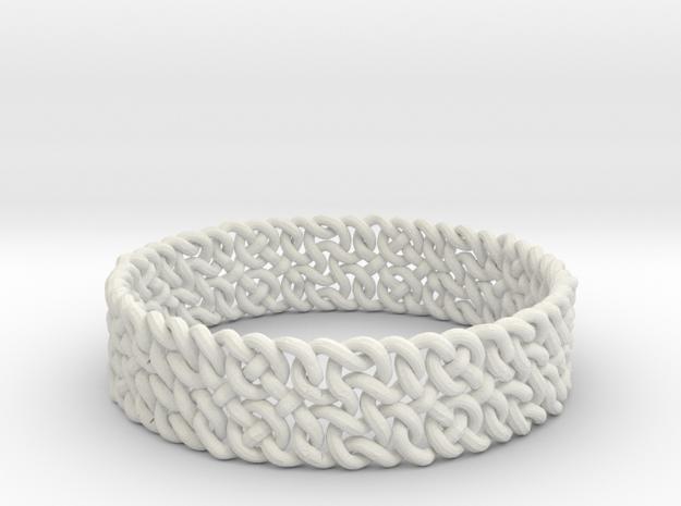 Islamic Woven Bracelet in White Natural Versatile Plastic