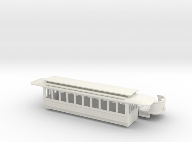 Wien Typ T umgebaut als Zweiachser in White Natural Versatile Plastic