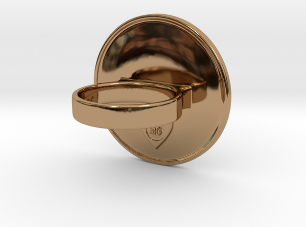 Celtic Whirlpool Cocktail Ring 3d printed