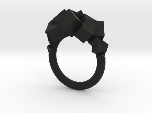 Rock Ring size 7 3d printed