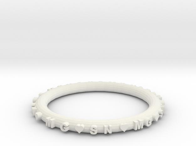 mgsn in White Natural Versatile Plastic