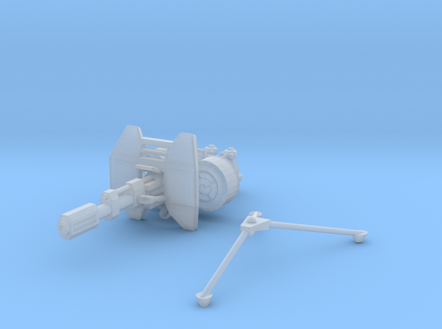 advanced Battle Cannon 001a shield and tripod 3d printed