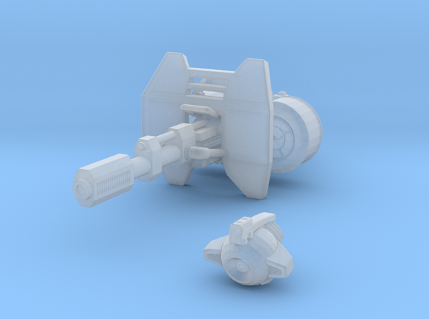 advanced Battle Cannon 001a shield and support 3d printed