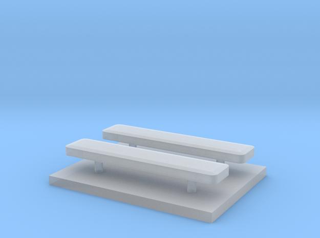 Whelen lightbar 17,4 mm 2 stuks 1/87 in Smooth Fine Detail Plastic