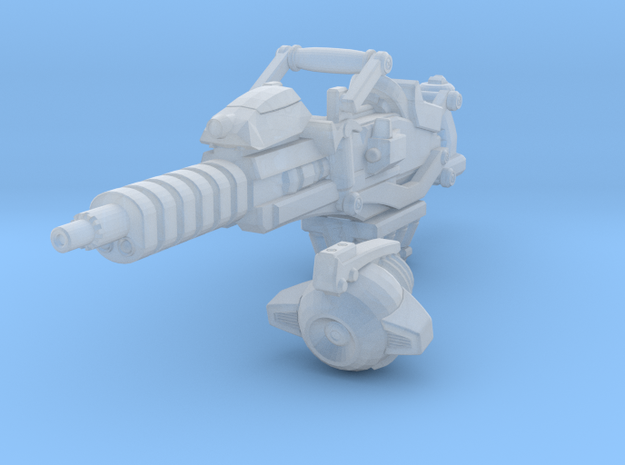 advanced laser cannon 001a carried with support 3d printed
