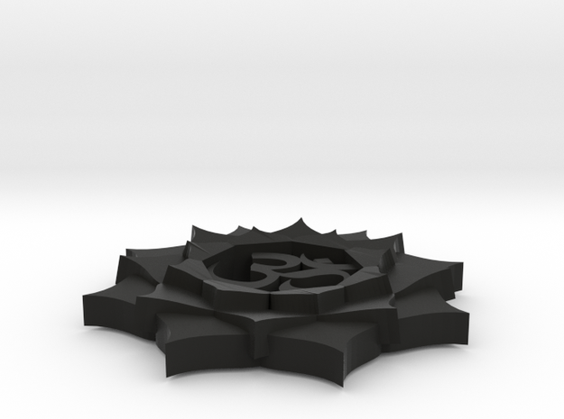 Lotus Om Button 3d printed