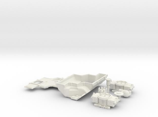 1/8 SBC 2X4 BBl Cross Ram Intake System 3d printed
