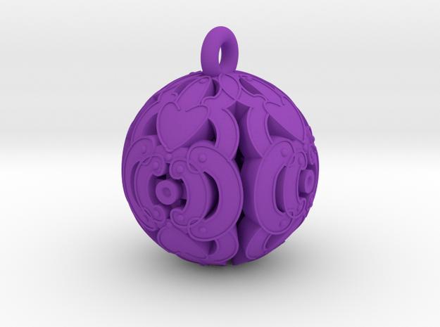 Pendant- Mari Bead 3d printed