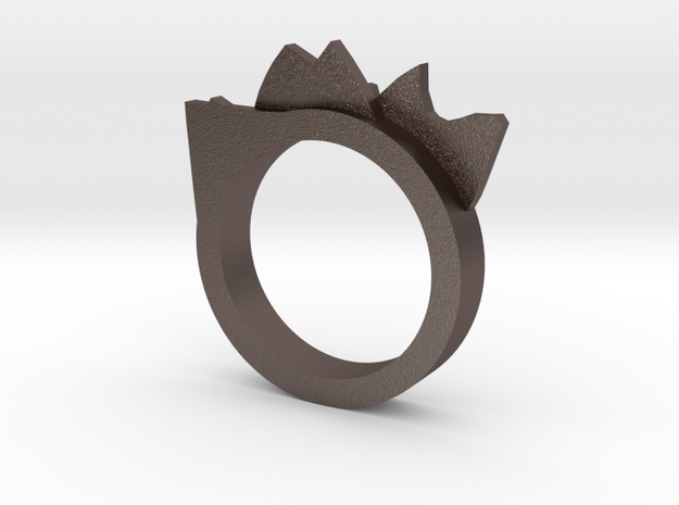 Mountain Range Ring ~ Size 7 3d printed