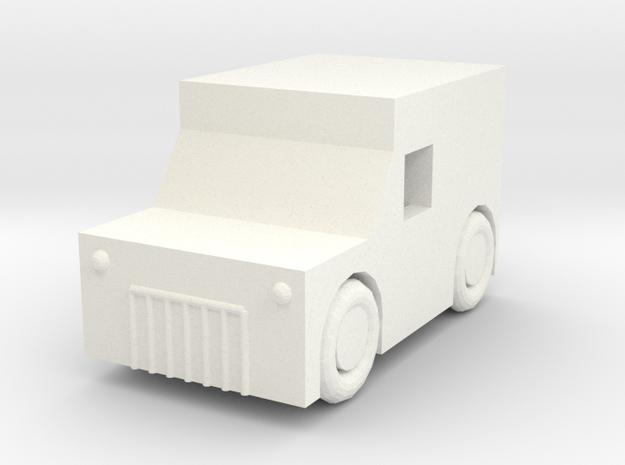 A simple wagon in White Processed Versatile Plastic