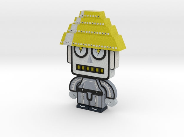 DevoBot Series 2 B/W with yellow energy dome, Josh 3d printed