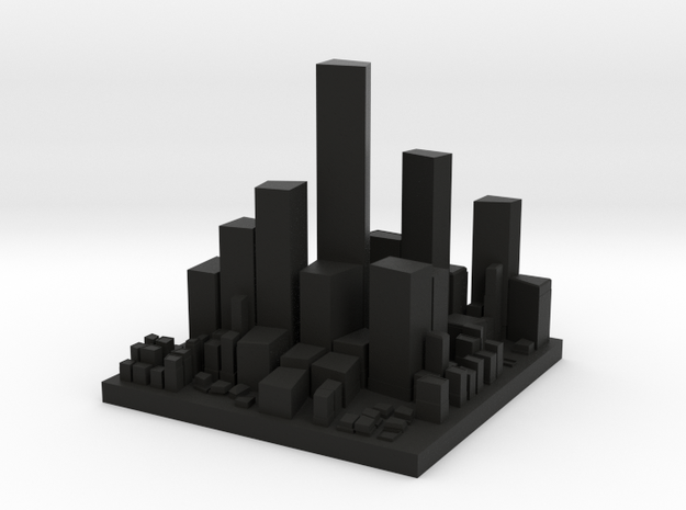 Very small City 3d printed