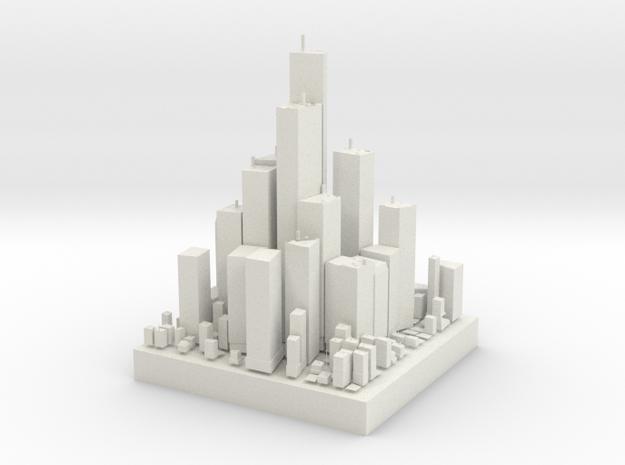 Micro City in White Natural Versatile Plastic
