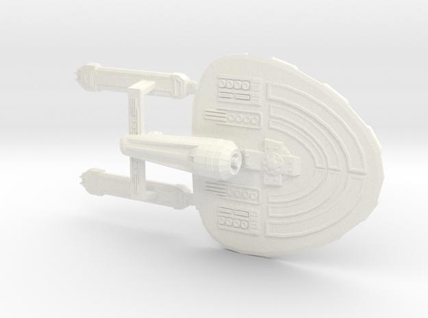Federation Starship USS Gladstone in White Processed Versatile Plastic