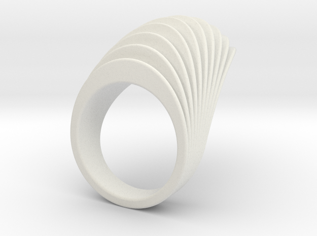 Undine Ring 3d printed