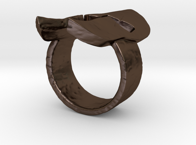 Spartan Helmet Ring 3d printed Raw Bronze print