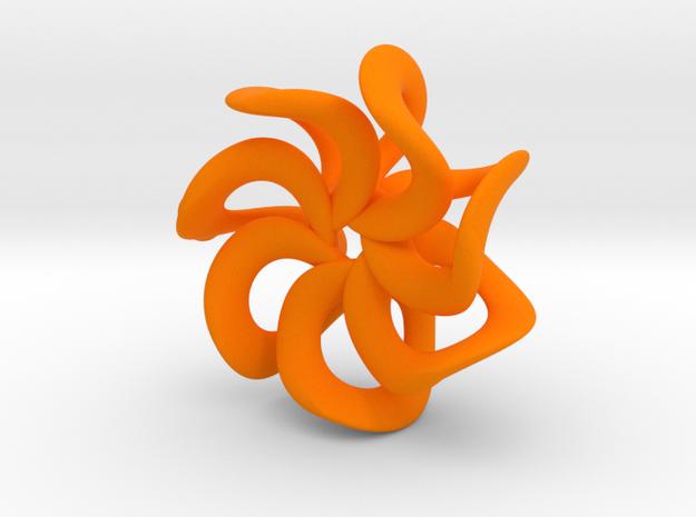 Flower pendant in Orange Processed Versatile Plastic