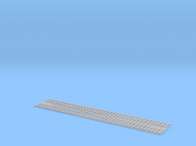 Doubletrack Switch R / Weiche R Doppelgleis 1/285 in Smooth Fine Detail Plastic