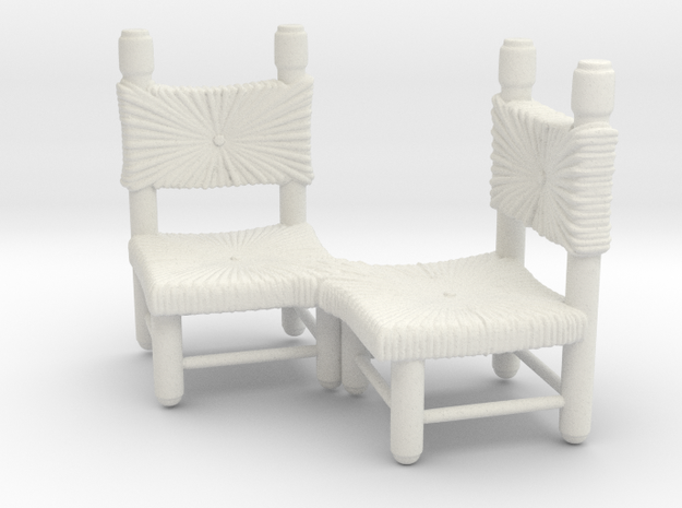 Chairs in White Natural Versatile Plastic