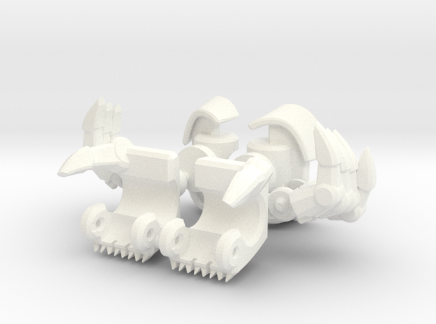 TF: Prime Powerizer Dreadwing Skyquake hands 3d printed