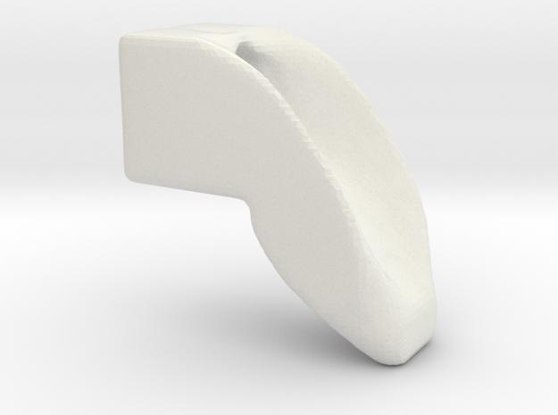 three quarter scale smooth dogleg in White Natural Versatile Plastic