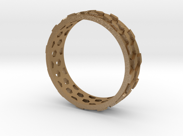 Thin parquet deformation ring (57mm) 3d printed