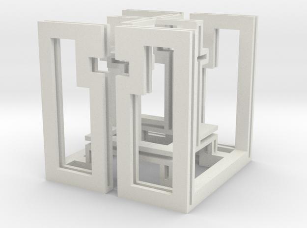 cube_17 in White Natural Versatile Plastic