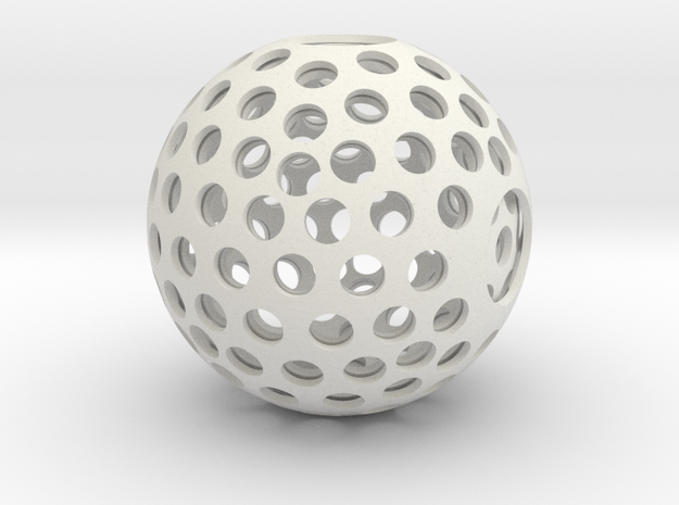 Holesphere in White Natural Versatile Plastic