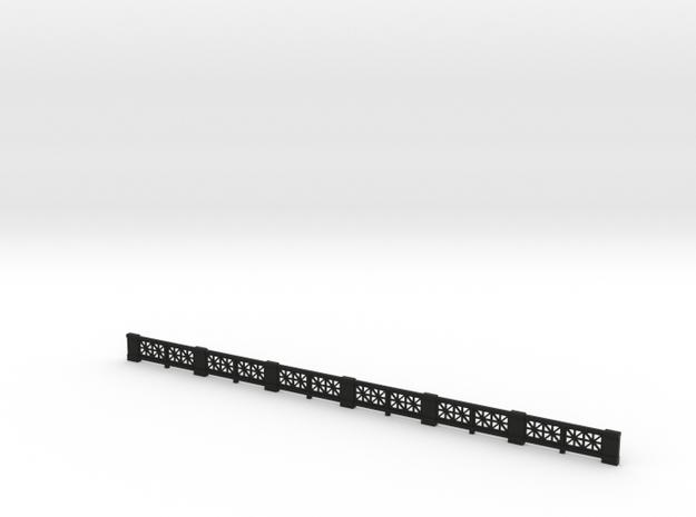 Small-star railing HO single 3d printed