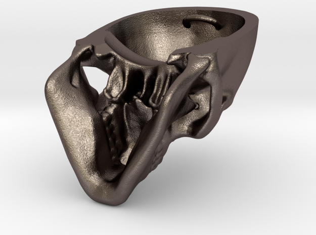 Human Skull with Ring 3.9 cm 3d printed