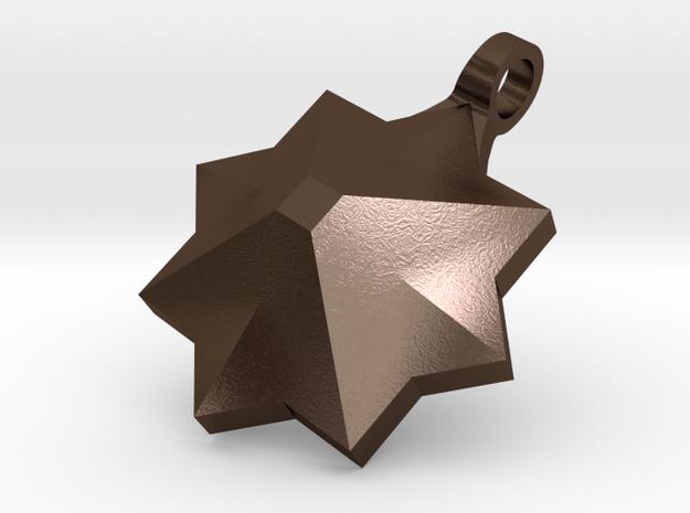 PyraStar™ (Pyramid & Star) Pendant w/ Smooth Walls 3d printed