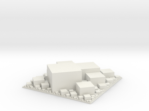 Square packing, extruded in White Natural Versatile Plastic