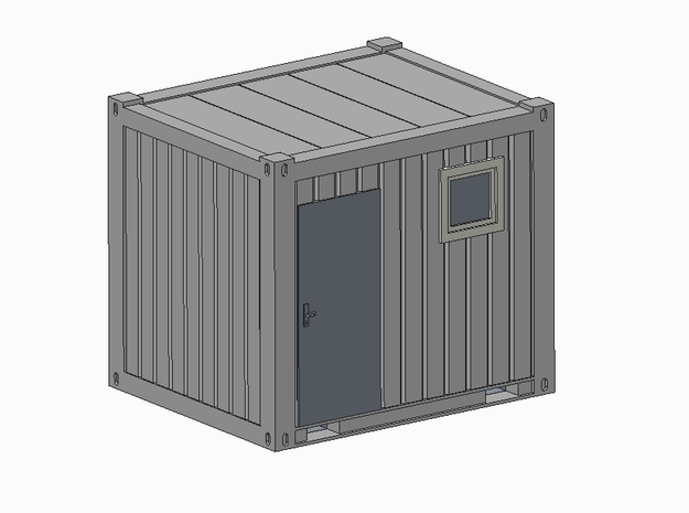 H0 1:87 Sanitärcontainer 10' in Smooth Fine Detail Plastic
