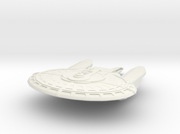 Franklin Class Destroyer in White Natural Versatile Plastic