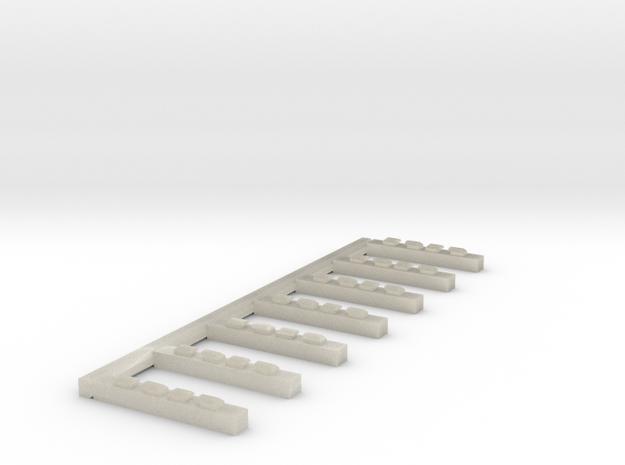 Schwellenjoch Ni mit Einzelschwellen 3d printed