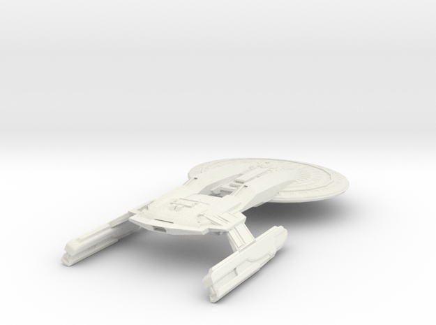 Texas Class Battleship in White Strong & Flexible