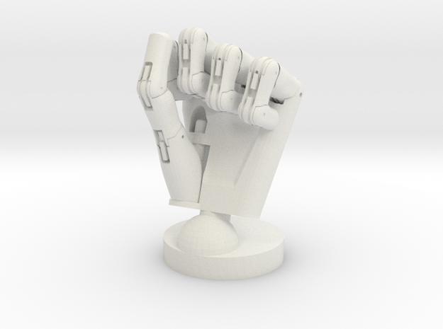 Cyborg hand posed fist 3d printed
