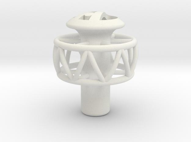 Ariel Atom shift knob - Helicoil in White Natural Versatile Plastic