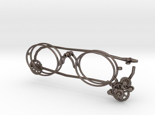 Clockwork Glasses in Polished Bronzed Silver Steel