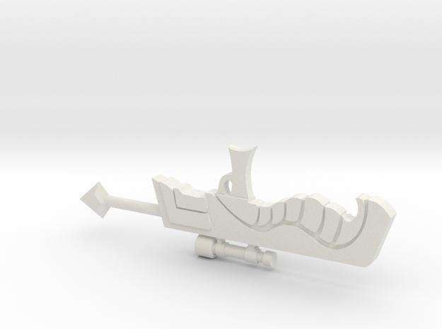 Homestuck Ahab's crosshairs in White Natural Versatile Plastic