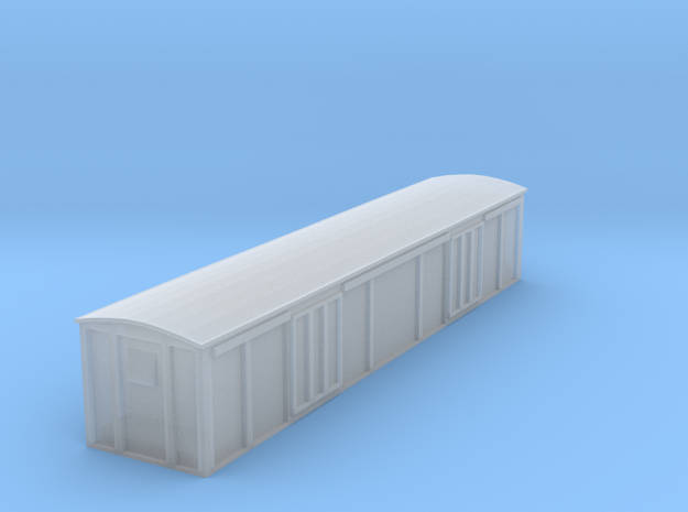 Motor Body ClosedVan Coach T-gauge in Smooth Fine Detail Plastic