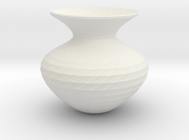 Flower Vase in White Strong & Flexible