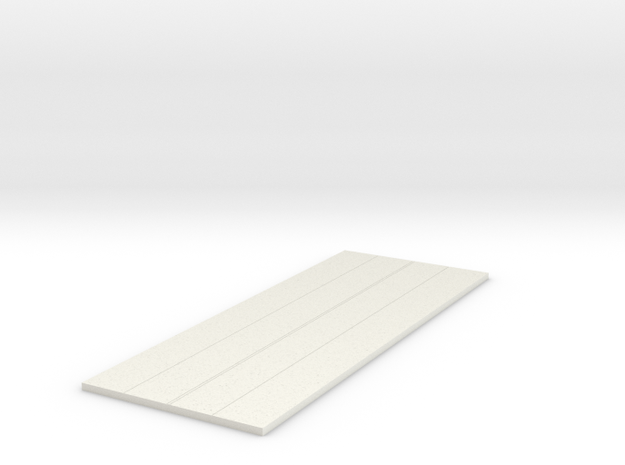 1/700 Connecting Tarmac in White Natural Versatile Plastic