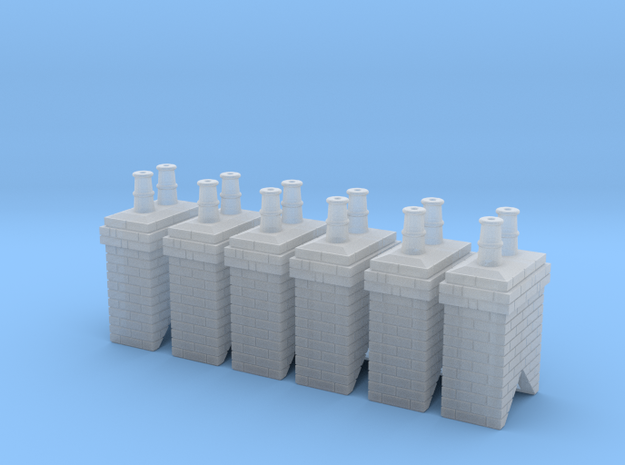 Chimney Stack 1 X 6 N Scale in Smooth Fine Detail Plastic