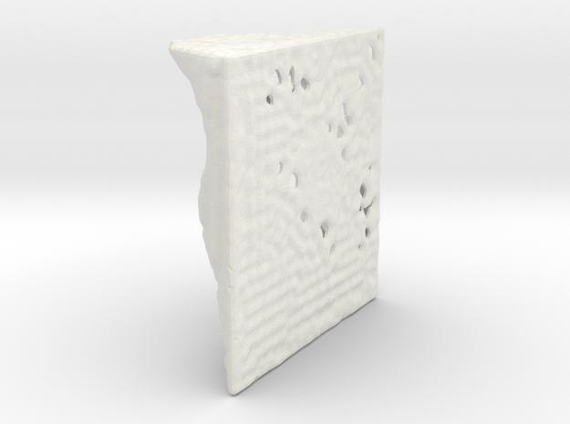 Panel-40-40-40-12 in White Natural Versatile Plastic