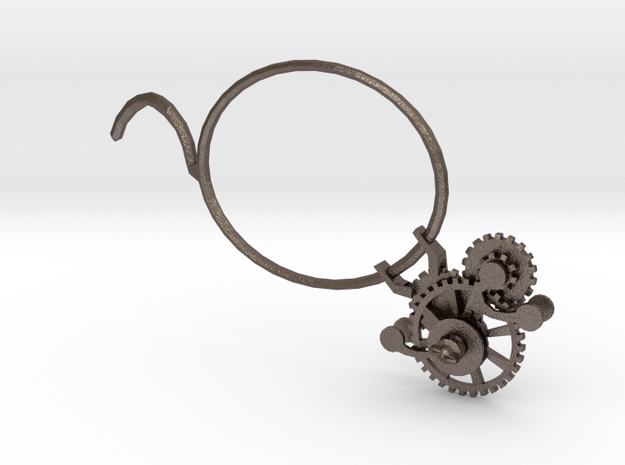 Monocle01 in Polished Bronzed Silver Steel