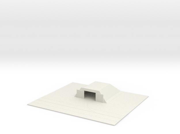 1/700 Small Concrete Hanger With Tarmac in White Natural Versatile Plastic