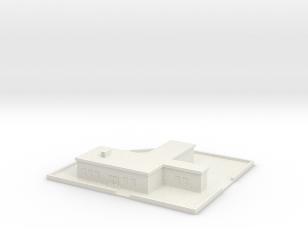 1/700 Command Building With Grounds in White Natural Versatile Plastic