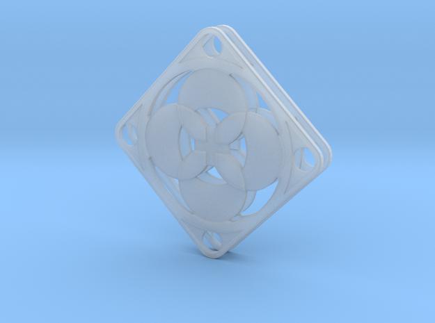 Elegant Earrings - Four Petals Bound 3d printed