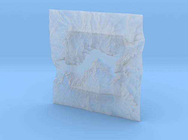 4'' Yosemite Valley Terrain Model, California, USA 3d printed